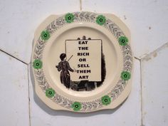 Eat the Rich Eat The Rich, Ceramic Plates, Vintage Ceramic, Carrie, Ceramics, Vintage Pottery, Hall Pottery, Clay Pots, Old Time Pottery