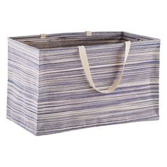 Blue Large Rectangular Artisan Crunch Can with Handles by Umbra