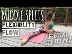 30 Minutes to MIDDLE SPLITS! [Flexibility Flow] - YouTube ~ There's nothing that opens up your mind and makes you feel really alive then deep hip opening flows.