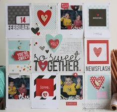 Nichol Magouirk scrapbook page. Let's just cut to the chase: Swoon-ity, swoon, swoon.