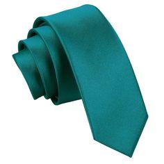 Plain Satin Skinny Men's Tie