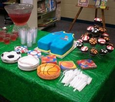 sports theme for baby shower | Sports Themed Shower Food Ideas