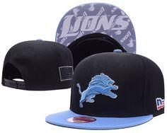 Men s Detroit Lions New Era NFL Crafted in America Snapback Hat - Black    Light Blue a691638e6dc