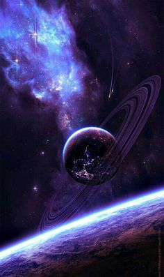 Space in Art astronomie Galaxy Space, Galaxy Art, Galaxy Planets, Cute Wallpapers, Wallpaper Backgrounds, Wallpaper Space, Mobile Wallpaper, Cool Galaxy Wallpapers, Purple Galaxy Wallpaper