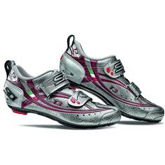 Sidi Women's T3 Carbon cycling shoes! Gregg swears by these shoes for his classes, but these are definitely made for the ladies! Loving this color combo
