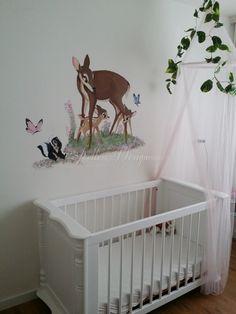 Bambi mural made by me Bambi wandschildering gemaakt door mij