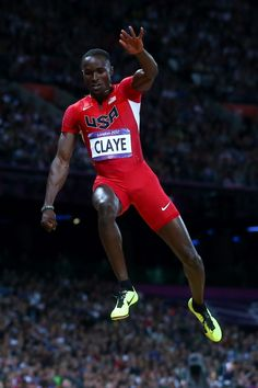 Will Claye of the United States won bronze in the Men's Long Jump Final on Day 8 of the London 2012 Olympic Games on August 4, 2012.