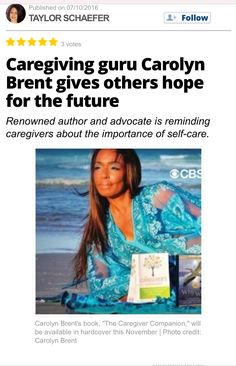 #learning 📚http://us.blastingnews.com/lifestyle/2016/10/caregiving-guru-carolyn-brent-gives-others-hope-for-the-future-001169007.html