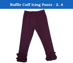Ruffle Cuff Icing Pants - 2, 4. Every girl needs a few more ruffles in her life, and these darling Ruffle Cuff Pants fit the bill. A perfect match for all of your little girl's tops and dresses, these pants are both comfortable and stylish with their slimmer fit and dainty ruffles. Please check measurements prior to ordering. All sales are final. No returns or exchanges.