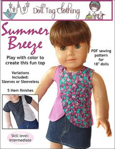 Pixie Faire Doll Tag Clothing Summer Breeze by PixieFairePatterns