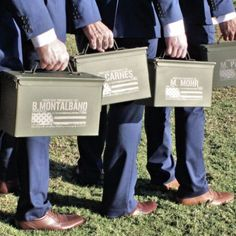 Best Groomsmen Gifts 2017 Ammo Cans personalized by ScissorMill.com