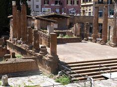 TEMPLE A : JUTURNA / temple périptère avec colonnes tuf stucké/ 241AC