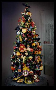 Melissa Shirley Designs | Hand Painted Needlepoint | Melissa's Spectacular Spooky Halloween Tree