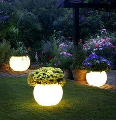 Sakaılardan Bahçe aydınlatma Fikirleri