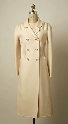 Wool Coat and Dress, Valentino, c. 1968.
