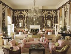 The living room at Lyford Cay Club is sheer genius, decorated by Tom Scheerer, photo by Pieter Estersohn, via www.francesschultz.com