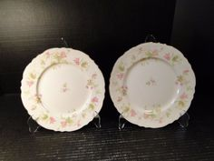 TWO Homer Laughlin Maple Leaf Luncheon Plates 9 1/4 Republic R9524 EXCELLENT! #HomerLaughlin