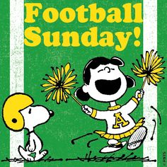 Are You Ready For Some Football? Snoopy, Lucy, Peanuts, Football Sunday, Classic