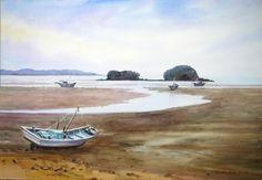 강화도의 추억 72.7 x 53.0 cm watercolor dn ppaper watercolor by Jung in sung