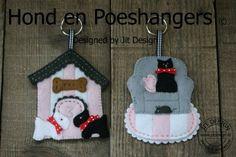 DIY Patroonblad Hond en Poeshangers