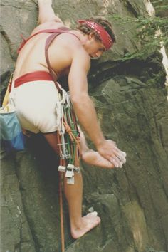 Barefoot climbing at Ragged Mountain, CT.  80's -haha Odessa I guess it does help ur feet but not with shoes on haha