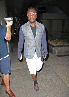 Will.i.Am lands at LAX Airport in Los Angeles, California.