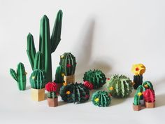 Cactus Park, Origami Diagrams, Diy And Crafts, Paper Crafts, Tattoo Lettering Fonts, Faux Succulents, Diy Projects To Try, Paper Cutting, Quilling