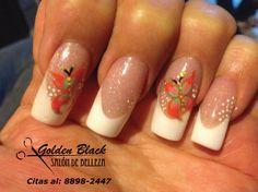 #nails #uñas #diseño #puntablanca