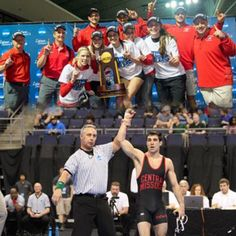 UCM Jennies Track & Field and UCM Wrestler Frank Cagnina celebrate their victories!
