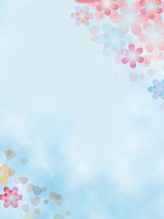 Soft Pastel Flower Style Minimalist Background