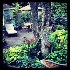 A look at the Fishingham Garden from bedroom French doors | 07.12.12 | Photo by Jeff Fisher