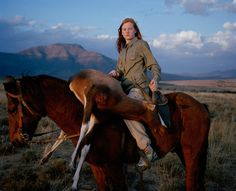Huntress with Buck.        David Chancellor's photo of 14-year-old Josie Slaughter beat 6,000 submissions to win Taylor Wessing prize http://www.guardian.co.uk/artanddesign/2010/nov/09/taylor-wedding-photographic-portrait-prize