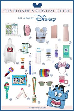 Jan 2020 - Whether you're a new adventurer or a seasoned expert, this Disney survival kit can help make sure you and your family have the best time in the park. Disney World Backpack, Disney World Packing, Disney World Outfits, Disney World Vacation Planning, Disney World Parks, Disney Planning, Disney Vacations, Disney Trips, Packing List For Disney