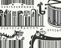 Illustrated Barcodes by Steve Simpson, via Behance
