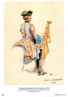 SYW- France: Trumpeter of the Condé Cavalry 1740, by Eugène Leliepvre.