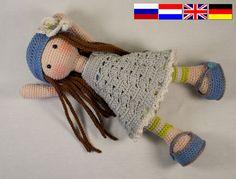Häkelanleitung für Puppe LILLY Deutsch English von CAROcreated