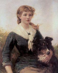 Hardy, Heywood (b,1842)- Good Companion (Girl w Collie), 1882