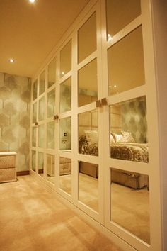 Modern Mirrored Closet Doors mirrored closet door makeover | closet door makeover, mirrored