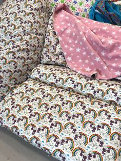 Purple Unicorn Sleepover Cuddlebed Beanbag Set - Heartizan 37c45eba5266d