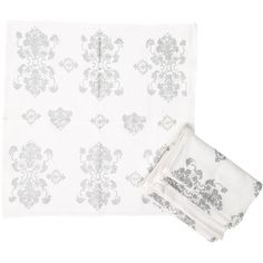 Pre-owned Kim Seybert Napkin Set ($45) ❤ liked on Polyvore featuring home, kitchen & dining, table linens, white, table linen napkins, floral linen napkins, kim seybert, floral napkins and linen napkins