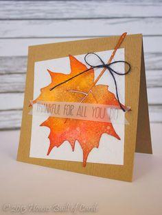 Distress Leaf Card