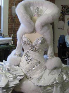 "Annie's ""Winter Wonderland"" wedding dress--Sondra Celli has done it again! Beautiful!"