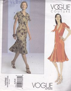 Vogue Couture 2782 Damen Vintage Muster ausgestattet von OhSewVogue