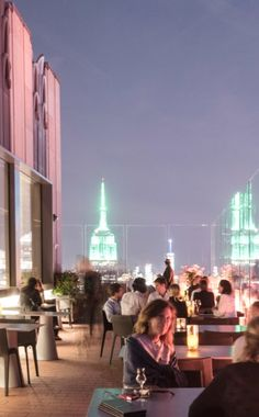 The 13 best rooftop views in New York: SixtyFive bar, on the 65th floor of the art deco Comcast Building (better known as 30 Rock), where you can sip cocktails above a sea of lights. Image credit: Mark Sariban
