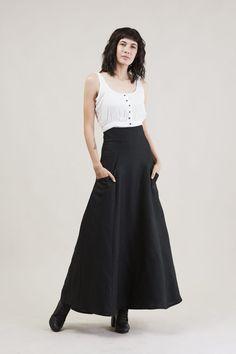 gorgeous linen skirt