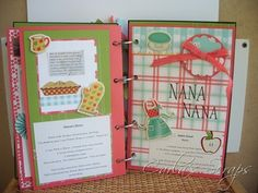 Cookbook scrapbook page - the minis are always absolutely adorable but this is much more practical.