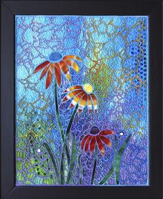 Party on a Blue Wall by Crisitna Ciloci ~ Maplestone Gallery ~ Contemporary Mosaic Art Mosaic Tile Art, Mosaic Glass, Stained Glass, Glass Art, Mosaics, Mosaic Designs, Mosaic Patterns, Mosaic Flowers, Mosaic Madness