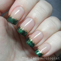 The Lacquerologist: Not My Style Saturday Holiday Style: Zoya Ornate French Tips!