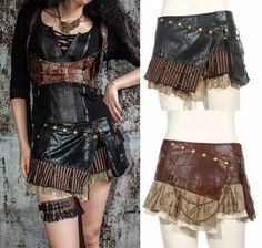2017 Gothic Steampunk Brown Leather Mini Skirt Skirt Short Black Leather Skirt Rq Bl Sp090 From Alandd, $42.22 | Dhgate.Com