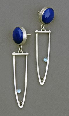 Mirinda Kossoff - lapis lazuli with sterling silver and blue topaz